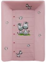 Пеленальный матрас Maltex мягкий с изголовьем 50х70 см  zebra, розовый. 34544