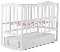 Детская кровать Babyroom Зайчонок ZL301 маятник, ящик, откидной бок  белая. 31008