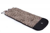 Матрас в коляску Cottonmoose Leather 590/79/109 pantera cotton (леопардовый, черная эко-кожа). 34319