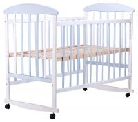 Кровать Наталка ОБГ  ольха бело-голубая. 34111
