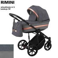 Детская коляска 2 в 1 с люлькой и прогулочная для новорожденных трансформер Adamex Rimini Tip RI-6. 31093