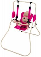 Качель детская домашняя напольная Babyroom Casper  малина-св.бежевый. 30939