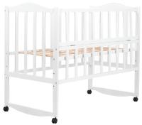 Детская кровать Babyroom Зайчонок ZL101 откидной бок  белая. 31006