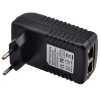 PoE адаптер инжектор питания камер RJ45 48В 0.5А F&D. 49238