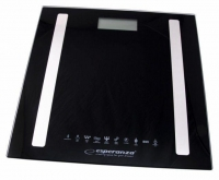 Весы напольные Esperanza EBS016K B.Fit 8 в 1, черные. 48734