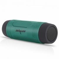Велосипедная bluetooth колонка Zealot S1 с креплением на руль, зеленая MHz. 49118