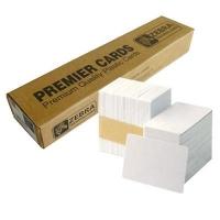 Карточка пластиковая чистая Zebra Premier PVC, белые, 30 mil, 500 шт (104523-111). 47649