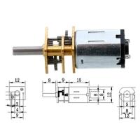 Мотор редуктор микро моторчик 12GAN20 100об/мин 6В F&D. 49145