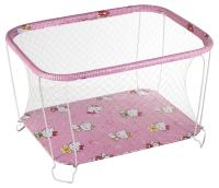 Манеж Qvatro Classic-01 крупная сетка  розовый (hello kitty). 34186