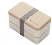 Ланч бокс двойной Wooden Style WS-001 1200мл, бежевый MHz. 49349