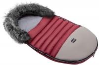 Зимний детский конверт Bair Polar premium  бордо - серая кожа. 31349