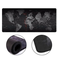Игровая поверхность, большой коврик для мышки игровой F&D 70х30см Карта Мира. 42484