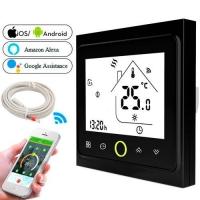 Терморегулятор Wi-Fi F&D для эл теплого пола 220В 16А BHT-002-GBLW, черный. 49087
