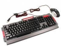 Комплект проводная клавиатура игровая LED и мышь MHz K33 6946. 42638