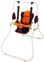 Качель детская домашняя напольная Babyroom Casper  графит-оранжевый. 30928