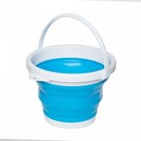 Ведро складное круглое синий 10л FO. 49362