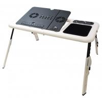 Подставка столик для ноутбука с двумя USB кулерами. 48994