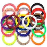 Филамент пластик PLA 20 цветов 200м 1.75мм для 3D-ручки, запаски F&D. 49288