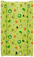 Пеленальный матрас Maltex мягкий 50х80 см  птицы, домики, зеленый. 34526
