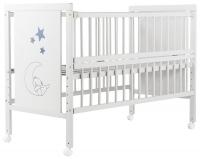 Кровать Babyroom Медвежонок M-01 откидной бок, колеса  бук белый. 34098