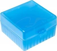 Коробка для патронов GTI Equipment кал .223 Rem. Количество - 100 шт. Цвет - голубой. 14280007