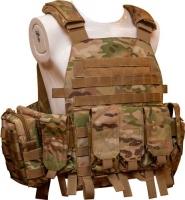 Жилет тактический TAR Tactical Vest Multicam NIJ IV (ДСТУ 4 класс) 7,62х54R пуля Б-32 4 пластины: передняя из задняя 255х305 мм. 14980001