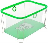 Манеж Qvatro Солнышко-02 мелкая сетка  зеленый (panda). 34241