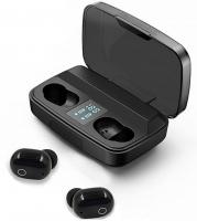 Наушники вакуумные Bluetooth TWS J16 с зарядным кейсом, черные. 49129