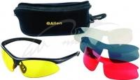 Очки стрелковые Allen Pro Class 4 Lens Combo Set With Case. Линзы - поликарбонат (прозрачный, желтый, красный, дымчатый). 15680321