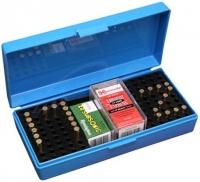 Коробка MTM SB-200 на 250 патронов кал. 22 LR, на 200 шт. кал. 22 WMR и на 150 шт. кал. 17 HMR. Цвет – голубой. 17730373