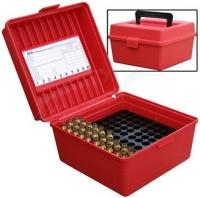 Коробка MTM R-100-MAG на 100 патронов кал. 300 Win Mag, 300 WSM, 338 Win Mag, 444 Marlin, 9,3x62. Цвет – красный. 17730468