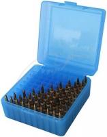 Коробка MTM RS-100 на 100 патронов кал. 22 Hornet, 222 Rem и 223 Rem. Цвет – голубой. 17730469