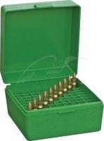 Коробка MTM RM-100 на 100 патронов кал. 22-250 Rem, 243 Win и 308 Win. Цвет – зеленый. 17730470