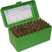Коробка MTM RS-50 на 50 патронов кал. 222 Rem и 223 Rem. Цвет – зеленый. 17730473