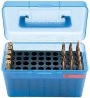 Коробка MTM H50-RS на 50 патронов кал. 222 Rem и 223 Rem. Цвет – голубой. 17730477