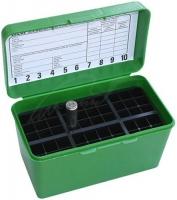 Коробка MTM H50-RM на 50 патронов кал. 22-250 Rem, 6 mm BR Norma, 243 Win, 6,5x55, 7,62x39, 308 Win. Цвет – зеленый. 17730478