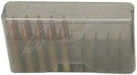 Коробка MTM J-20-M на 20 патронов кал. 22-250 Rem, 243 Win, 6 mm BR Norma, 6,5x55, 7,62x39, 30-30 Win, 308 Win, 410/76. Цвет – дымчатый. 17730483