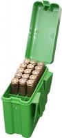 Коробка MTM RM-20 на 20 патронов кал. 22-250 Rem, 243 Win, 6 mm BR Norma, 6,5x55, 30-30 Win, 7,62x39 и 308 Win. Цвет – зеленый. 17730497