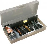 Коробка пластмассовая MTM Broadhead Accessory для 6 наконечников стрел и прочих комплектующих. Размеры – 11,5х21х5 см. Цвет – серый. 17730677
