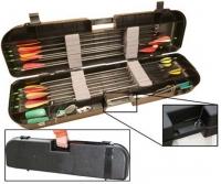 Кейс пластмассовый MTM Arrow Plus Case для 36 стрел и прочих комплектующих. Размеры – 91,5х26х13 см. Цвет – черный. 17730680
