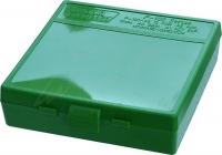 Коробка для патронов MTM кал. 45 ACP, 10мм Auto, 40 S&W. Количество - 100 шт. Цвет - зеленый. 17730844