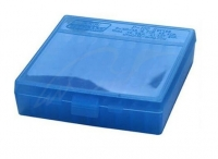 Коробка для патронов MTM кал. 45 ACP, 10мм Auto, 40 S&W. Количество - 100 шт. Цвет - голубой. 17730845