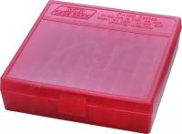 Коробка для патронов MTM кал. 45 ACP, 10мм Auto, 40 S&W. Количество - 100 шт. Цвет - красный. 17730846