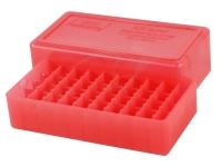 Коробка для патронов MTM кал. 9мм, 38 Spec. Количество - 50 шт. Цвет - красный. 17730848