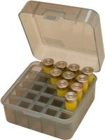 Коробка MTM Dual Gauge Shotshell Case универсальная на 25 патронов 12/16/20 кал. Цвет – дымчатый. 17730891