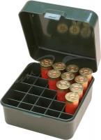 Коробка MTM Dual Gauge Shotshell Case универсальная на 25 патронов 12/16/20 кал. Цвет – зеленый. 17730892