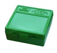 Коробка для патронов MTM кал. 7,62x25, 5,7x28, 357 Mag. Количество - 100 шт. Цвет - зеленый. 17731005