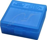Коробка для патронов MTM кал. 7,62x25, 5,7x28, 357 Mag. Количество - 100 шт. Цвет - голубой. 17731006
