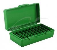 Коробка для патронов MTM кал. 9мм, 380 ACP. Количество - 50 шт. Цвет - зеленый. 17731007