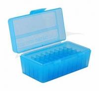 Коробка для патронов MTM кал. 7,62x25, 5,7x28, 357 Mag. Количество - 50 шт. Цвет - голубой. 17731010